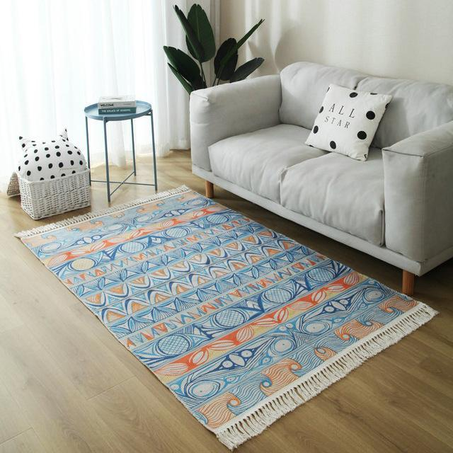 Tapis Bleu Orange