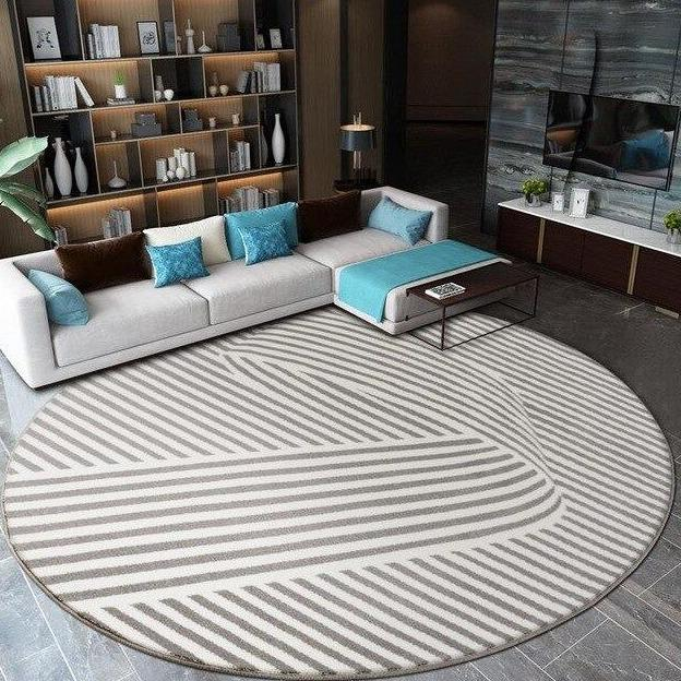 Tapis Rond Salon Design