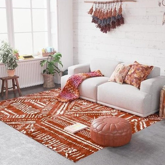 Tapis Style Oriental Rouge