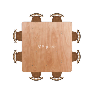 5ft Square Table