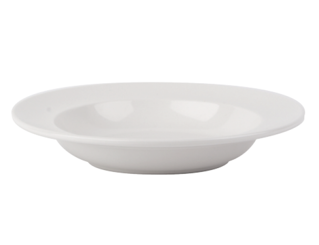 samson plain white pasta bowl