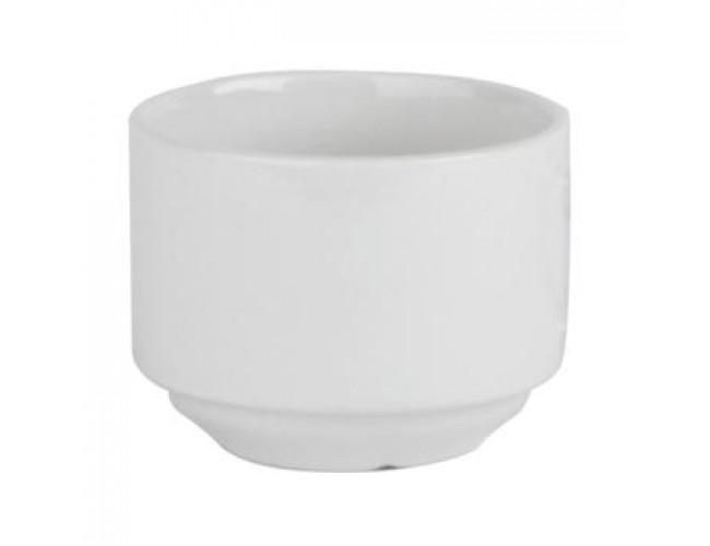 plain white sugar bowl