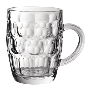 dimple pint glass