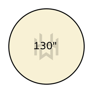 Load image into Gallery viewer, Classic Plain Ivory Round Linen