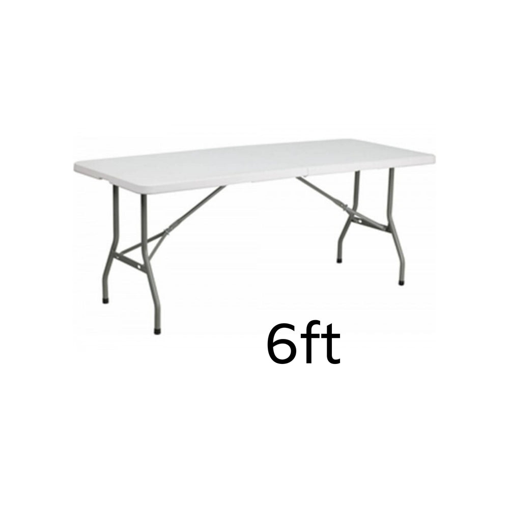 plastic rectangular table – 6 ft