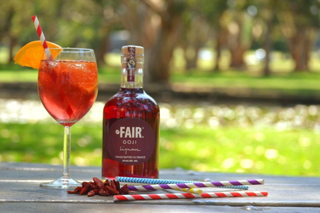 FAIR Goji spritz cocktail low alcohol