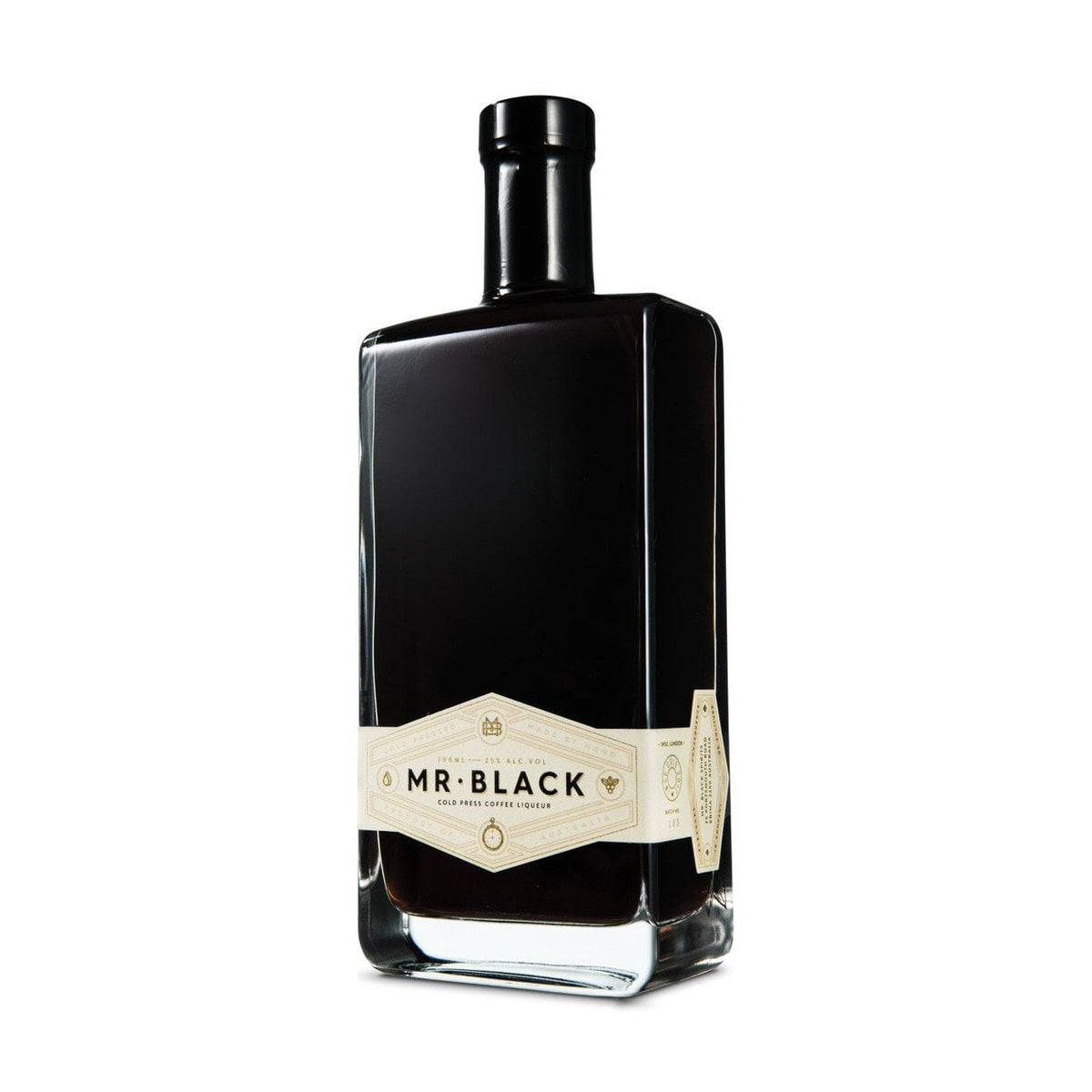 Mr Black Coffee Liqueur side bottle shot