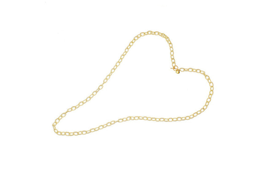 Nautical Gold Fabric Chain with Gold Toggle