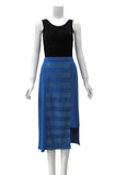 Pencil skirt with front stripe panel