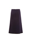 Midi Skirt With Knit Trim Hem
