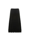 Knitted Midi Skirt With Origami Hem