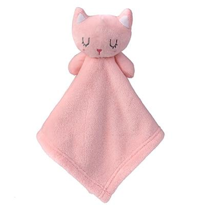 Doudou Plat <br> Animal Coton BIO mynounours 26CM Chat Rose