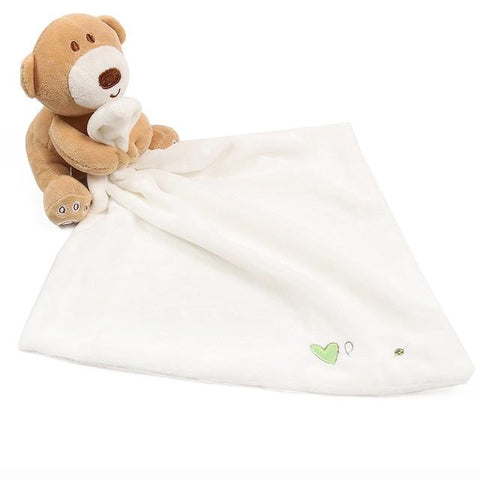 Doudou Plat <br> Ours mynounours Ours Blanc