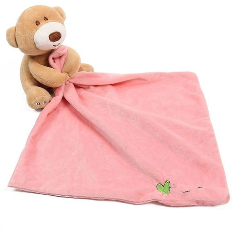 Doudou Plat <br> Ours mynounours Ours Rose 1