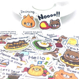 Stickers Ours <br> Gourmand 36 pcs mynounours