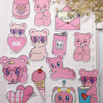 Stickers Ourson <br> Chambre Bébé 22 pcs mynounours