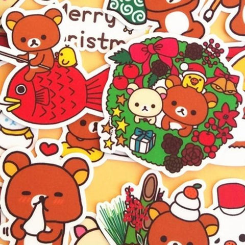 Stickers Ourson <br> Lune 32 pcs mynounours