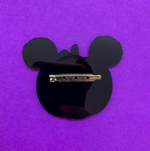 Laser Cut Mouse Pumpkin Pin/Brooch