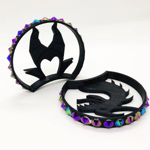Villain and Dragon 3D Printed Mouse Ears