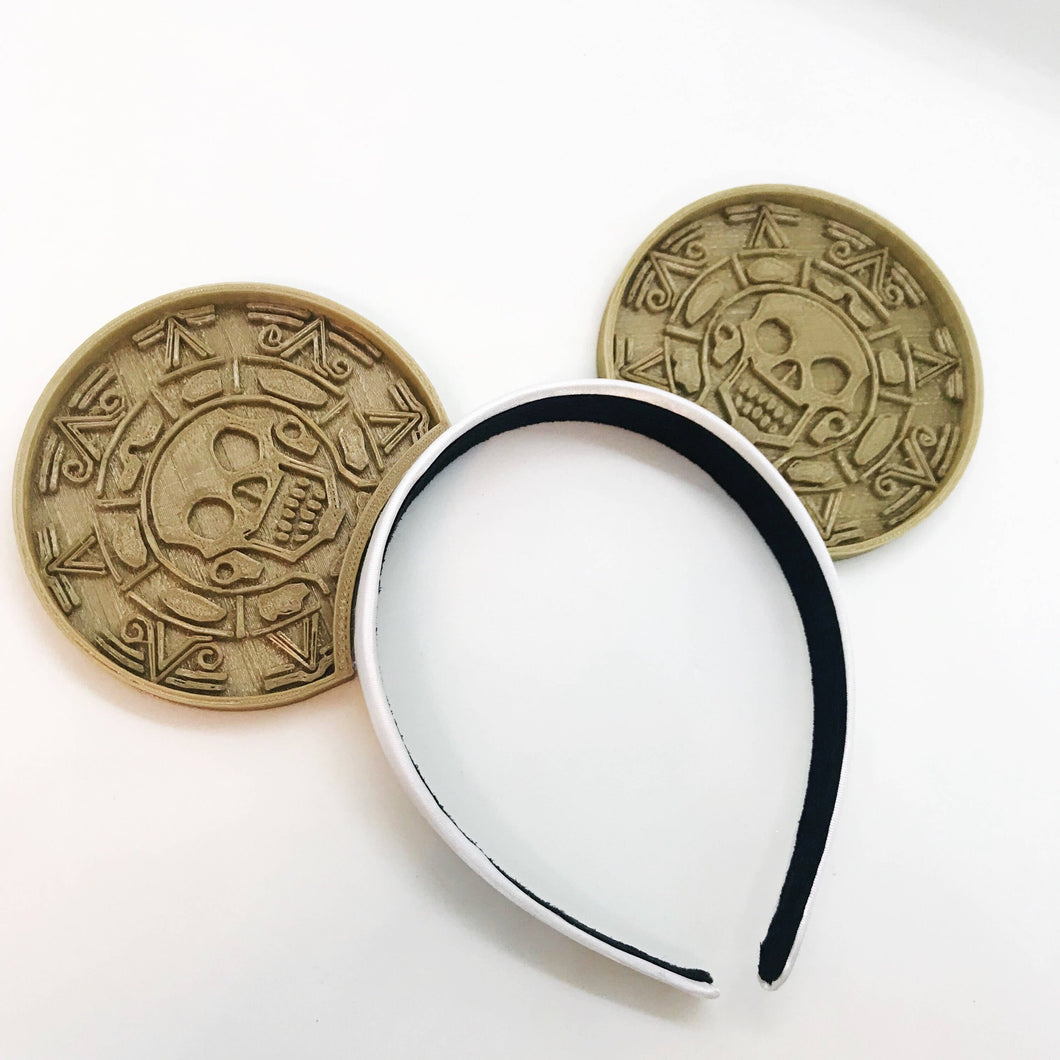 Pirate Coin 3D Printed Mouse Ears