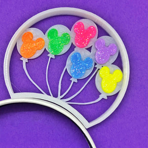 Rainbow Mouse Head Balloons 3D Printed Mouse Ears