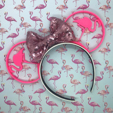 Load image into Gallery viewer, Pink Flamingo 3D Printed Mouse Ears