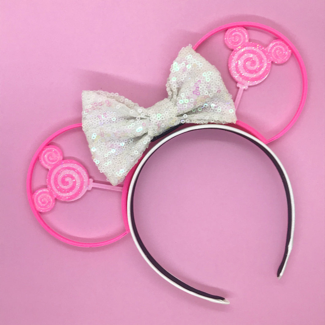 Pink Lollipop 3D Printed Mouse Ears