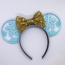 Load image into Gallery viewer, Snowflake 3D Printed Mouse Ears
