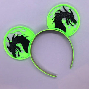 Fire Dragon 3D Printed Mouse Ears