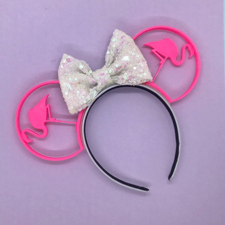 Pink Flamingo 3D Printed Mouse Ears