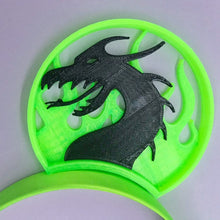 Load image into Gallery viewer, Fire Dragon 3D Printed Mouse Ears
