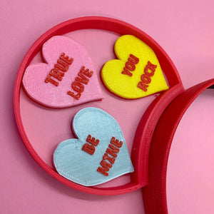 Valentine's Day Sweet Conversation Hearts 3D Printed Mouse Ears