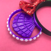 Load image into Gallery viewer, Mermaid Shell and Scales 3D Printed Mouse Ears