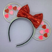 Load image into Gallery viewer, Valentine's Day Heart Balloons 3D Printed Mouse Ears