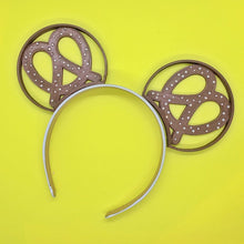 Load image into Gallery viewer, Hand Placed Rhinestone Crystal Pretzel Snack 3D Printed Mouse Ears