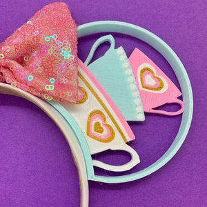 Pastel Teacups 3D Printed Mouse Ears