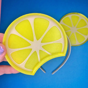Lemon Wedge Citrus 3D Printed Mouse Ears
