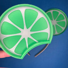Load image into Gallery viewer, Lime Wedge Citrus 3D Printed Mouse Ears