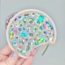 Load image into Gallery viewer, Crystal AB Iridescent Rhinestone 3D Printed Mouse Ears