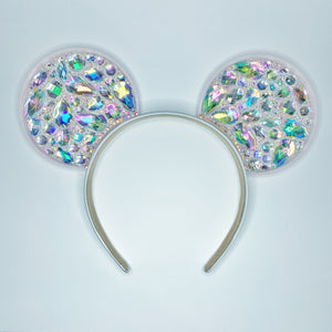 Crystal AB Iridescent Rhinestone 3D Printed Mouse Ears