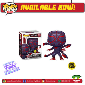 [IN-STOCK] Pop! Heroes: Marvel Comics - Miles Morales in Programmable Matter Suit (Glow In The Dark) [Exclusive] - Sheldonet Toy Store
