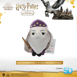 "HARRY POTTER - Albus Dumbledore 4"" Character Plush Charm - Sheldonet Toy Store"
