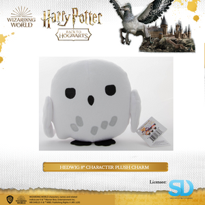 "HARRY POTTER - Hedwig 8"" Character Plush Charm - Sheldonet Toy Store"