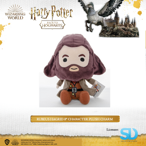 "HARRY POTTER - Rubeus Hagrid 8"" Character Plush Charm - Sheldonet Toy Store"