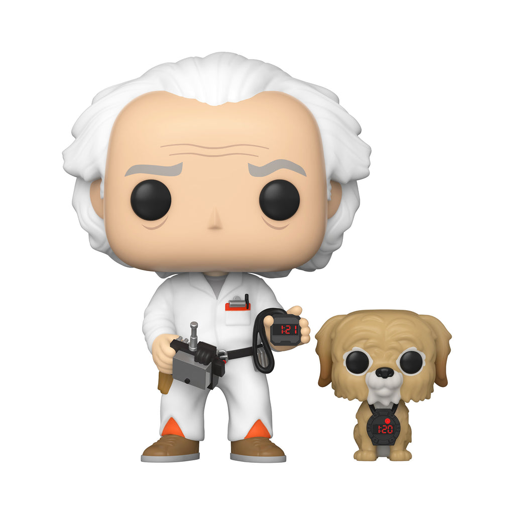 Pop! & Buddy: Back to The Future - Doc with Einstein [Exclusive] - Sheldonet Toy Store
