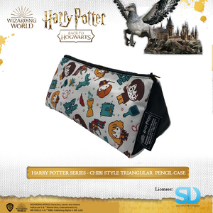 Wizarding World of Harry Potter - Chibi Style Triangular Pencil Case - Sheldonet Toy Store
