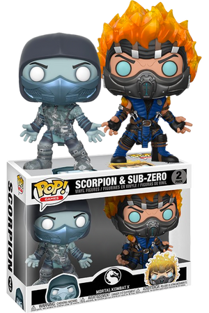 Pop! Games: Mortal Kombat - Scorpion & Sub-Zero (2-pack) [Exclusive] - Sheldonet Toy Store