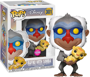 POP! Disney: Lion King - Rafiki With Baby Simba (Flocked) [Exclusive] - Sheldonet Toy Store