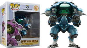 "POP! Games: Overwatch - D.Va with Meka (Blueberry) 6"" Exclusive - Sheldonet Toy Store"