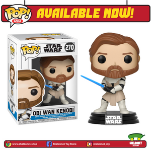POP! Star Wars: Clone Wars - Obi Wan - Sheldonet Toy Store